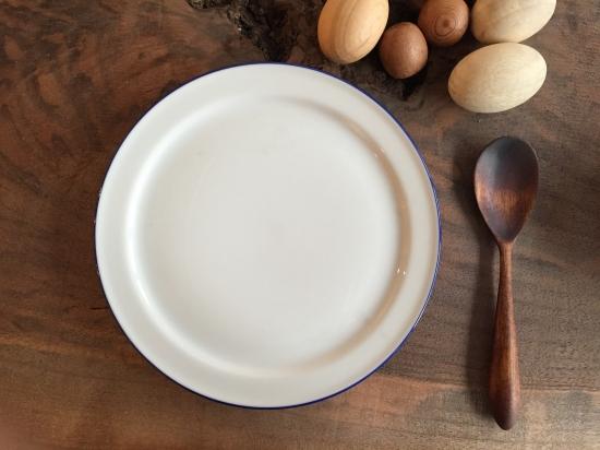 miyazono spoon (スプーン:くるみ/漆茶)& RIMプレート set